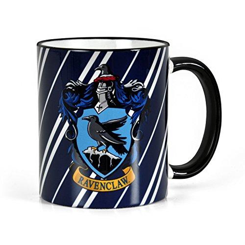 Elbenwald Harry Potter Keramik-Tasse Ravenclaw Wappen und Hausfarben Rundum-Druck 300 ml blau