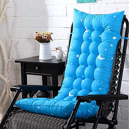 Cojín para silla mecedora al aire libre, cojín grande y suave para tumbona, cojín de repuesto para jardín, azul marino, 155 x 48