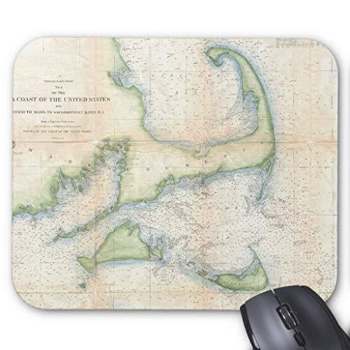 Mapa de Cape Cod (1857) - Alfombrilla para ratón (18 x 22 cm)