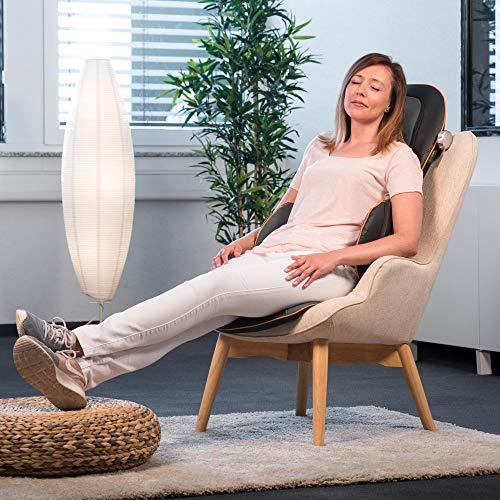 Medisana MC 825 Housse de siège de massage avec acupressure, massage de la nuque, fonction de réchauffement, 3 intensités, fonction de lumière rouge, avec télécommande pour le dos et la nuque