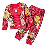 CDREAM Iron Man Schlafanzüge Kinder Lange Ärmel Jungen Pajama Sets Baumwolle Nachtwäsche 2-8 Ans,IronMan-140(7T)