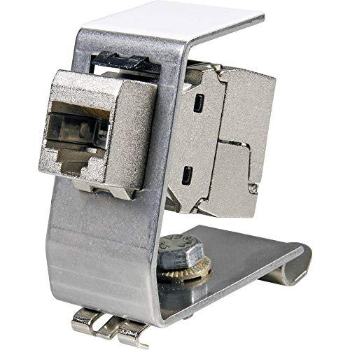 EFB-Elektronik Keystone Modulhalter für Hutschiene,Edelstahl,für 1xKeystone