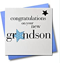 Claire Giles Hearts and Stars Congratulations on The Birth of Your Grandson Card