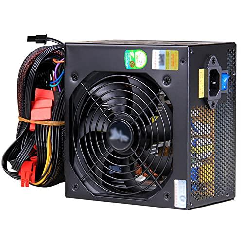 ZHMIAO 450 Unidad de Fuente de alimentación Negro 150-265V, Ventilador de 12 cm silencioso 5500zk Fuente de alimentación de Juego de Escritorio
