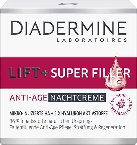 DIADERMINE LIFT+ Nachtpflege SUPER FILLER Nachtcreme Faltenfüllende Anti-Age Pflege, 1er Pack (1 x 50 ml)