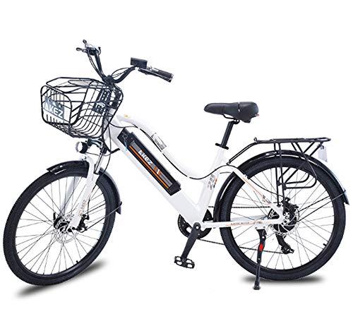 Bicicleta eléctrica de ciclomotor para adultos, bicicleta eléctrica inteligente de 26 pulgadas...