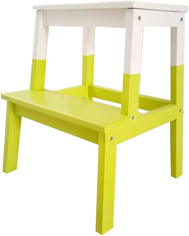 ahorrar en el despacho QQXX Taburete de Escalera Escalera Escalera Projoección del Medio Ambiente Multifunción Madera sólida Hogar Sencillo Estilo nórdico, 10 Colors de Doble Uso (Color  J)  nuevo sádico