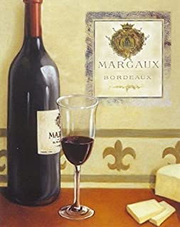 Buyartforless Margaux by David Morracco 20x16 Art Print Poster Red Wine Cheese Restaurant Still Life
