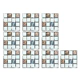 10pcs Mosaic Crystal Peel and Stick Wall Tile Self Adhesive Wall Stickers for Kitchen Backsplash Bathroom 3D Wall Sticker Decals Wallpaper Tiles