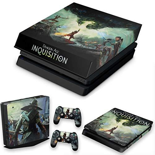 Capa Anti Poeira e Skin para PS4 Slim - Dragon Age Inquisition