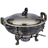 YYCHJU Chinesischen Stil Antik geprägte Kupfer Hot Pot Flachmann Antik Kupfer kleine Hot Pot Carbon...