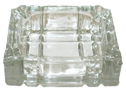 """4"""" Simple Style Square Glass Ashtray"""