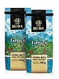 Café Britt Costa Rica Tarrazu Montecielo granos de café enteros premium, 340 gramos Bolsas (paquete de 2)