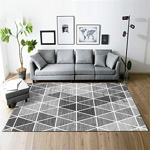 Nordic Modern Minimalist Geometric Carpet, Waterproof, Non-Slip, Mite-Removing And Moisture-Proof Mat, Suitable For Living Room, Bedroom, Hotel Bedside Balcony