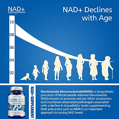 51Huzn3xlXL - NMN Supplement, 500MG Nicotinamide Mononucleotide Capsules for Supports Anti-Aging, Longevity and Energy, Naturally Boost NAD+ Levels (NMN 60PCS)