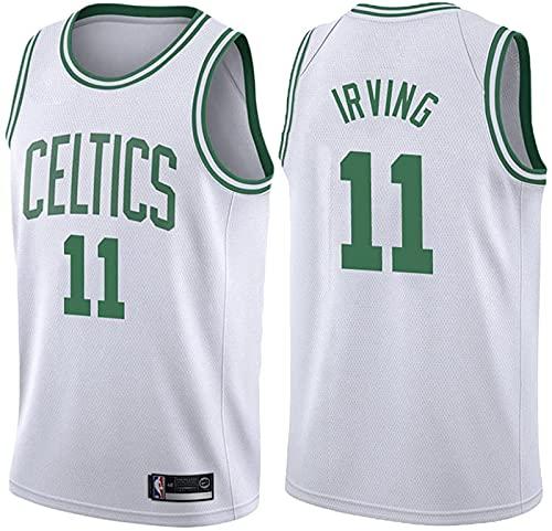 Jersey Basketball # 11 Frathable Sin Mangas Sports Jersey Chaleco Celtic, Malla Vintage Jersey Bordado Classic Baloncesto Sportswear, 5 - XL