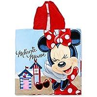 Setino MIN-H-PONCHO-26 - Poncho de baño infantil con capucha (55 x 80 cm), diseño de Minnie Mouse