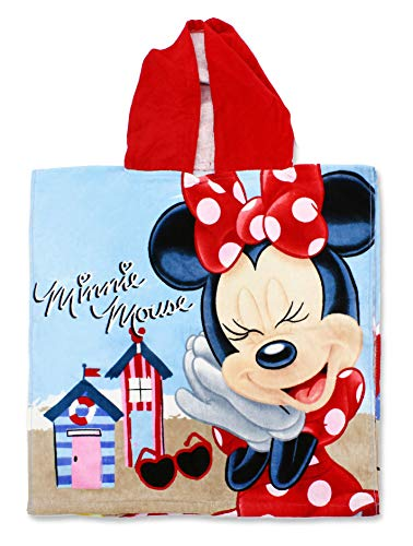 Setino MIN-H-PONCHO-26 Disney Minnie Maus Kinder Bade-Poncho mit Kapuze 55 x 80cm