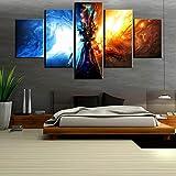 XLST Segeltuch HD-Drucke 5 Panel World of Warcraft Bilder