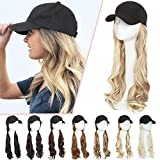 Baseball Cap with Hair Extensions Synthetic...