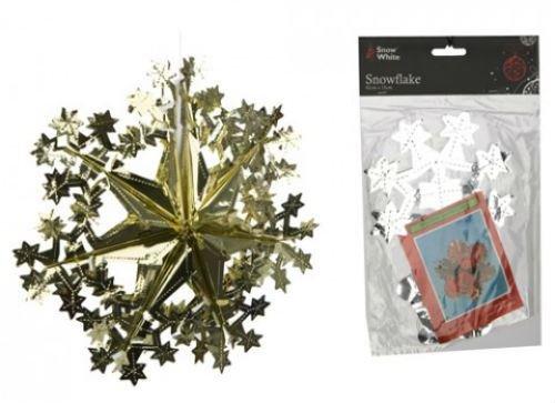 Gouden Sneeuwvlok folie opknoping decoratie