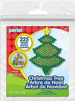 Perler Beads Christmas Tree Fuse Bead Activity Kit for Kids Crafts 227 pcs
