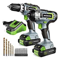 Efficient Drill/ Driver: This 20V Drill Driver can provide powerful torque and also allows you to choose between two speed setting (0 – 360 RPM or 0 – 1,300 RPM), so you will always have the power you need. The clutch has a total of 18 different torq...