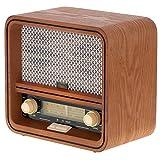CAMRY CR 1188 - Radio con carcasa de madera, diseño retro con AM/FM, radio nostálgica con Bluetooth, puerto USB, radio de cocina vintage con escala de frecuencias