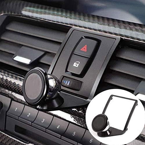 DIYUCAR Soporte para teléfono móvil para 1 3 4 Series GT F21 F22 F23 F30 F31 F34 F32 F33 F34 F35 F36 F80 F82 M4 2013-2019 (negro)