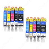 VKD, 10 cartucce di toner, adatte per stampante per Canon PIXMA TS, 5050, 6051, 6052, 8050, MG 5750, 6850, 7750 XL