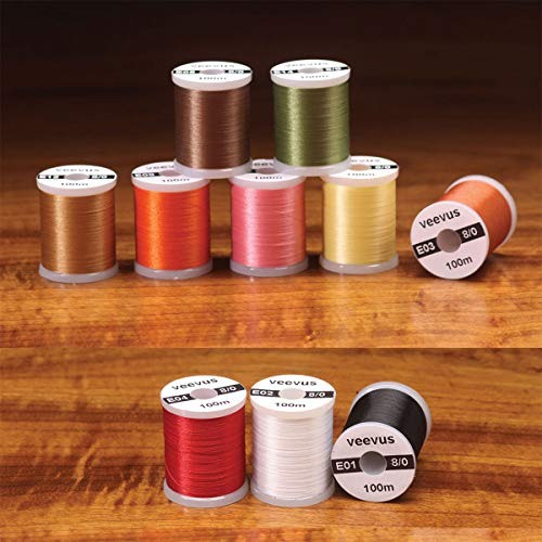 Veevus 8/0 Fly Tying Thread - Assorted Colors