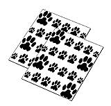 AWS Set Water 'Pfote Hund Fingerprint schwarze Welpe Nägel Nail Art Sticker übertragbar auf Wasser Dog Paw Stickers Welpe Transfer Aufkleber Cute puppy Tatze