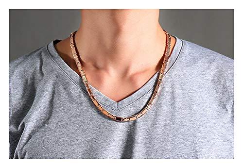 Herren-Halskette aus reinem Titan, magnetisch, Roségold, Hip-Hop-Rock-Stil, origineller Trendschmuck, schönes Paket.