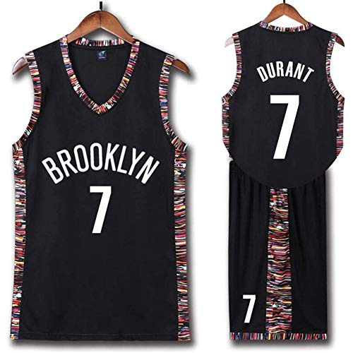 QAZWSX Brooklyn Nets # 7 Uniforme de Baloncesto Kevin Durant Camiseta de la NBA, Uniformes de baloncesto para adultos y niños, camiseta de baloncesto (incluye pantalones cortos)