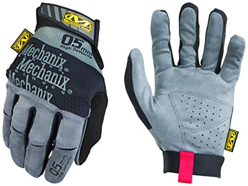 Mechanix Wear MSD-05-010 Guantes con un alto nivel de destreza, Negro/Gris, Large