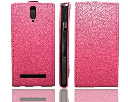 caseroxx Flip Cover für Mobistel Cynus T8, Tasche (Flip Cover in pink)
