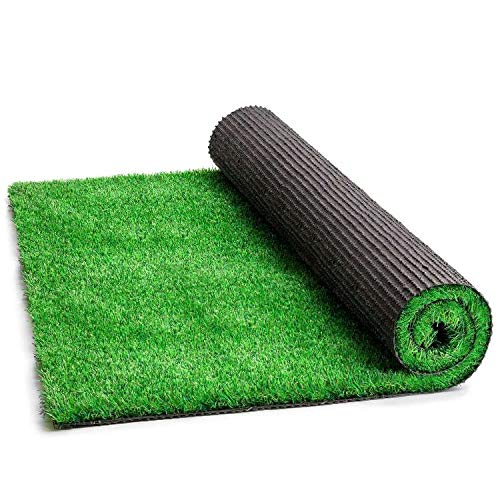 Zr Premium Artificial Grass Rug - 78.74''x118.11''(6.6x9.8FT) Grass Rug, 1.38'' Pile Height Realistic Synthetic Grass for Patio, Idea for Outdoor Use