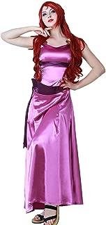 Women's Princess Megara Costume Cosplay Dress Halloween
