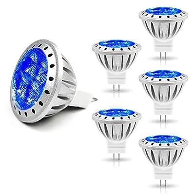 ALIDE MR11 Led Bulbs GU4 3W, Replace 20W 35W Halogen, 12V Low Voltage Spotlight for Outdoor Landscape Indoor Track Lighting, 6pcs