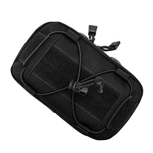 MagiDeal Poche Molle Randonnée Cycliste Sac Pochette Multifonctionnel Téléphone Portable - Noir, 42x29x13cm