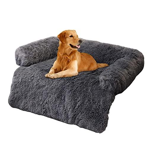 Cama Felpa Mascotas - Cama para Perros, Sofá para Perro con Resistencia Al Deslizamiento, Sofa Suave Animales Domésticos Invierno Cómoda, Cálida Y Mullida, Lavable para Mascotas