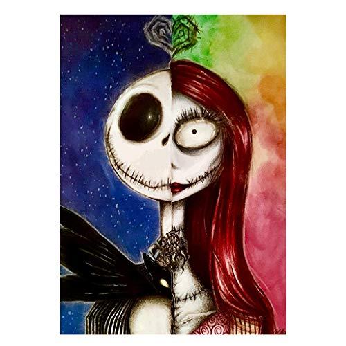 Cuadrado Diamantes pintura full drill Clearance niña de la muerte halloween bordado punto de cruz artesanía suministros lienzo número...