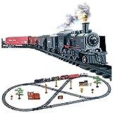 Juego de Trenes, Locomotora de Vapor, Modelo de Juguete de Tren,Juego de Tren de Vapor Juego de Tren Ferroviario Eléctrico,Recargable Juego de Tren de Juguete Motor de Locomotora Juego, con Luz, Niños