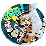 Pequeña alfombra circular antideslizante redonda alfombra lavable uso para guardería, gato Pop Art