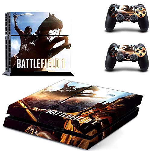 TAOSENG Game Battlefield 1 Ps4 Skin Sticker Decal For Playstation 4 Console and 2 Controller Skin Ps4 Sticker Vinyl Accessories