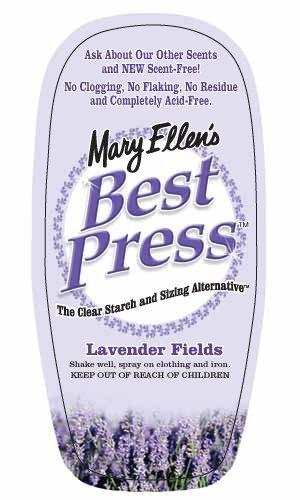 Best Press Ironing Spray 6oz Lavender Fields