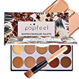 Thenxin 10 Colors Concealer Palette Facial Correcting Camouflage Concealer Palette with Makeup Brush Christmas New Years Gift
