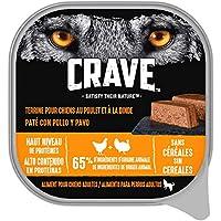 Inspirées de l'alimentation primitive du chien, les recettes CRAVE sont préparées avec des ingrédients de haute qualité à teneur élevée en protéines pour un goût que les chiens adorent Ces barquettes au poulet et à la dinde sont riches en protéines :...