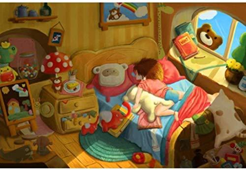 500/1000/1500/2000/3000/5000 stukjes puzzels voor volwassenen en kinderen, houten geschenken DIY mozaïek schilderen handgeschilderde cartoon slapende kinderen, rustig spel