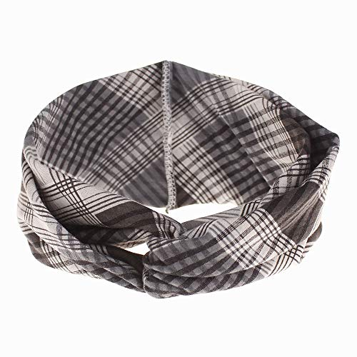 Mme bandeaux twisted cross knot headband imprimé cross élastique cheveux accessoires (2 pièces)